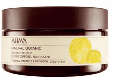 Ahava Насыщенное масло для тела Тропический ананас и белый персик Mineral Botanic, 235 г vegetable fruit tree binding machine