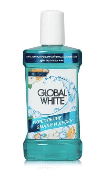 Global White Ополаскиватель укрепляющий Комплекс минералов, 300 мл малавит орал ополаскиватель для полости рта 300мл