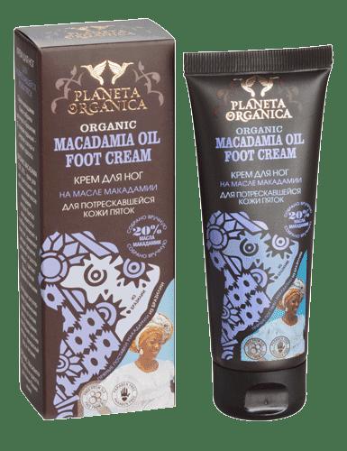 Planeta Organica Крем для ног для потрескавшейся кожи пяток на масле Макадамии Macadamia oil, 75 мл