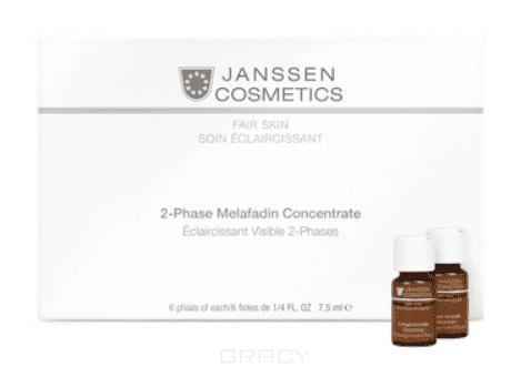 Janssen Двухфазный осветляющий комплекс Fair Skin, 6х7,5 мл janssen collagen fair skin осветляющий коллаген 1 белый лист