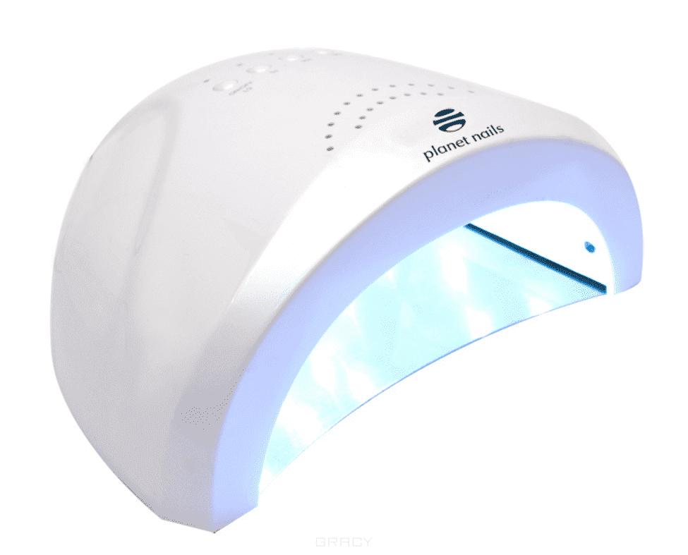 Planet Nails LED/УФ лампа 48W Magnetic (3 цвета), 1 шт, Бордовый