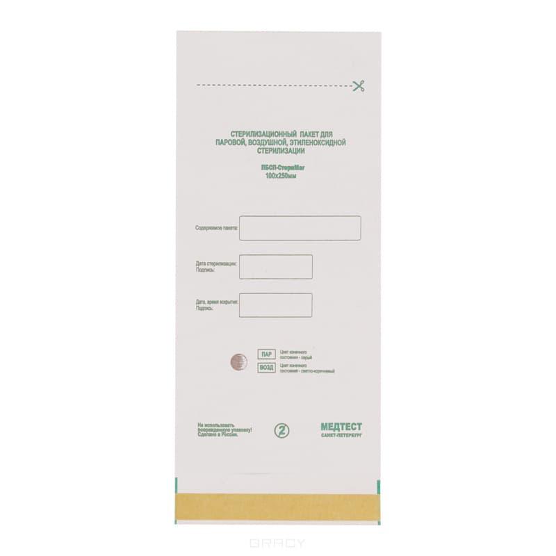 Planet Nails Пакеты для стерилизации белые, 100 шт/уп, 100 шт/уп, 150х250 мм защитные пластиковые пакеты plastic liners 100 шт