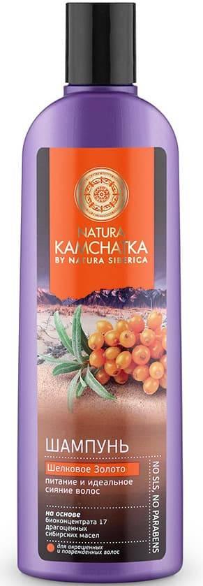 Natura Siberica, Шампунь Шелковое золото питание и идеальное сияние волос Kamchatka, 280 мл