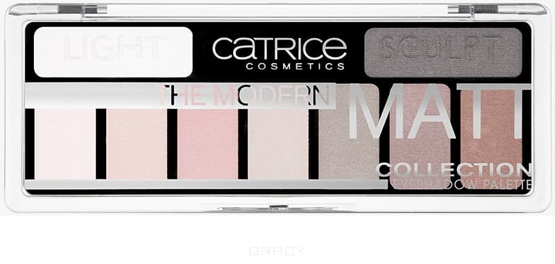 Catrice Тени для век в палетке The Modern Matt Collection Eyeshadow Palette (010 матовые) хайлайтер catrice dewy wetlook stick 010 цвет 010 splash n glow variant hex name f3e4e4
