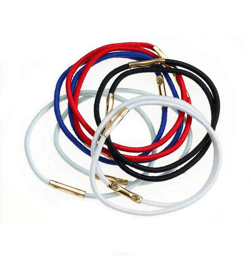 Sibel Резинки для волос 45 мм цветные, 10 шт/уп