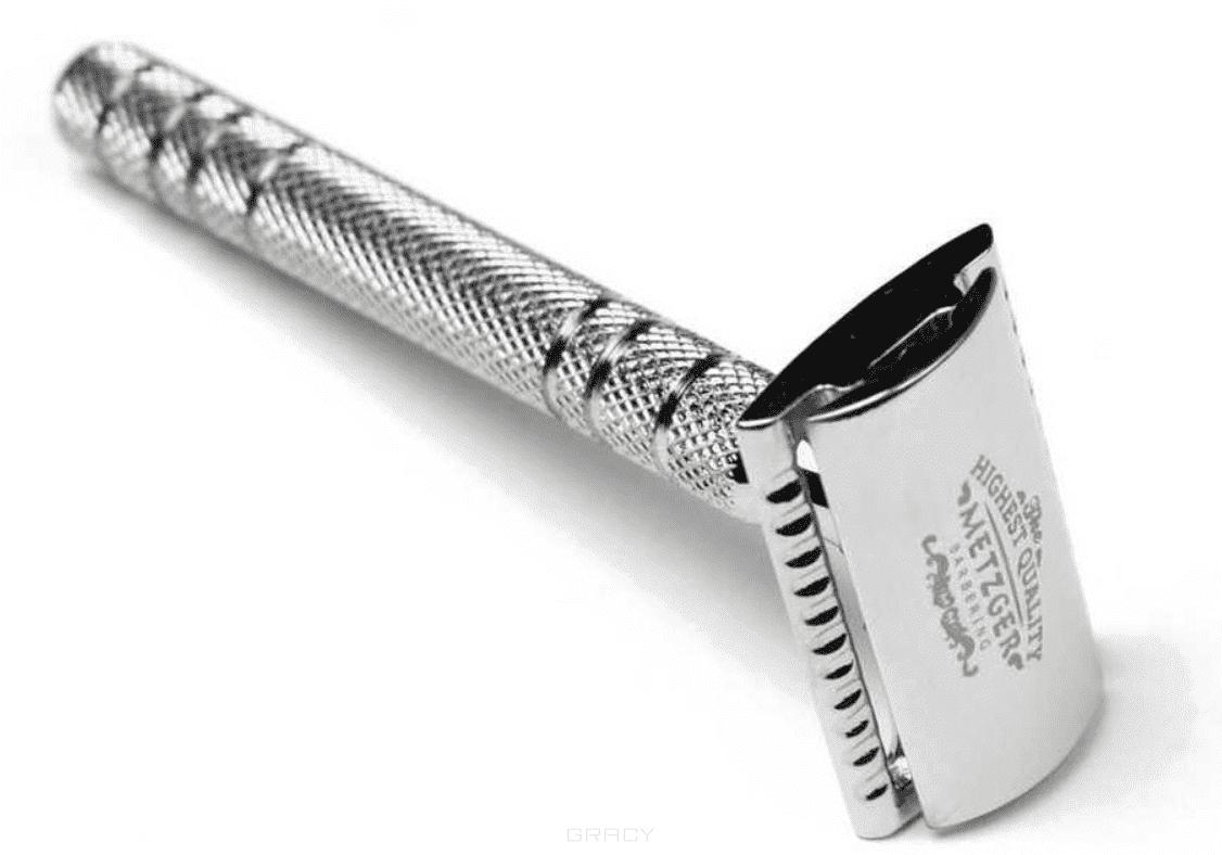 Metzger Безопасная бритва с двойным лезвием и латунным основанием (Chromed) DB-14532