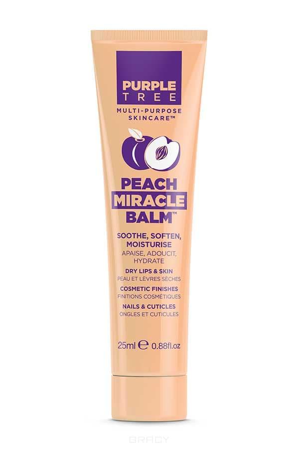 Purple Tree Бальзам для губ Персик Miracle Balm Peach, 25 мл бальзам для губ purple tree pomegranate miracle balm объем 25 мл
