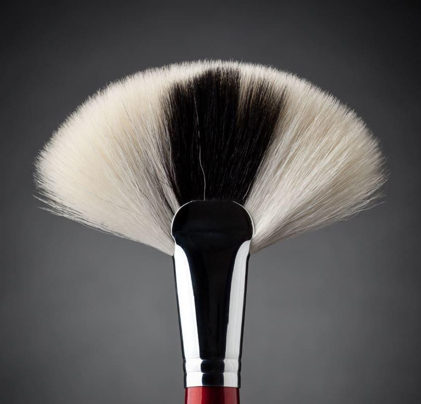 Ludovik Кисть веерная, коза, d 19, 40 valeri d кисть для румян из волоса енота со скосом 16м 9240