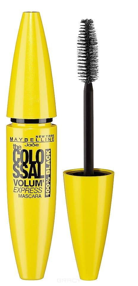 Maybelline Тушь Colossal Volum Express 100% Black, 10 ,7 мл тушь maybelline new york для ресниц the colossal volum express 100% черный 10 7 мл