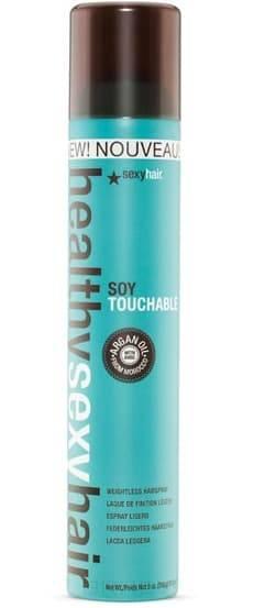 Sexy Hair, Лак подвижной фиксации Soy Touchable Weightless Hairspray, 310 мл