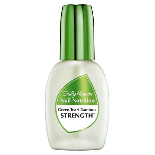 Sally Hansen Средство для укрепления слабых хрупких ногтей 2 в 1: база и верхнее покрытие Nail Nutrition Green Tea+Bamboo Nail Strengthene Nailcare