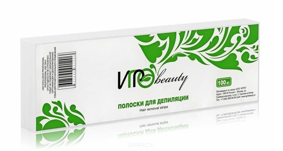 Igrobeauty, Бумага в полосках для депиляции, 7х22 см (5 цветов) Белая