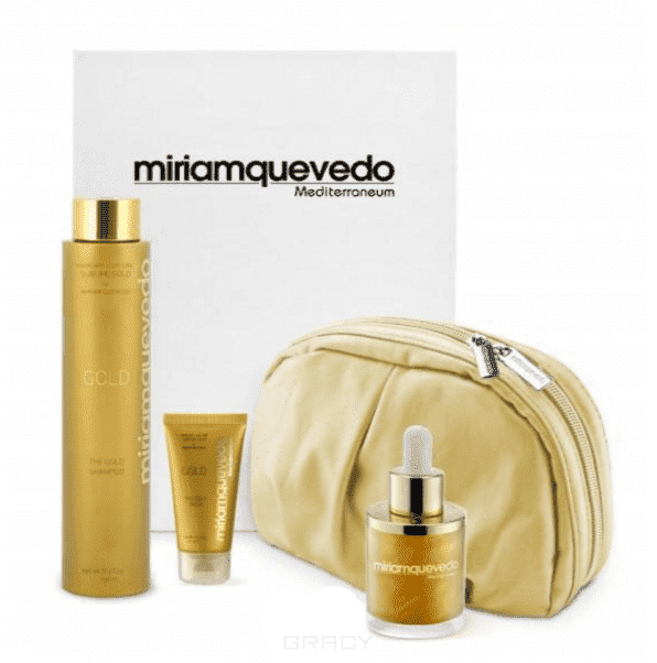 MiriamQuevedo Делюкс набор на основе золота 24 карата The Ultimate Luxurious Global Anti-Aging Sublime Gold Edition, 2х50/250 мл дорожные наборы miriamquevedo набор the sublime gold