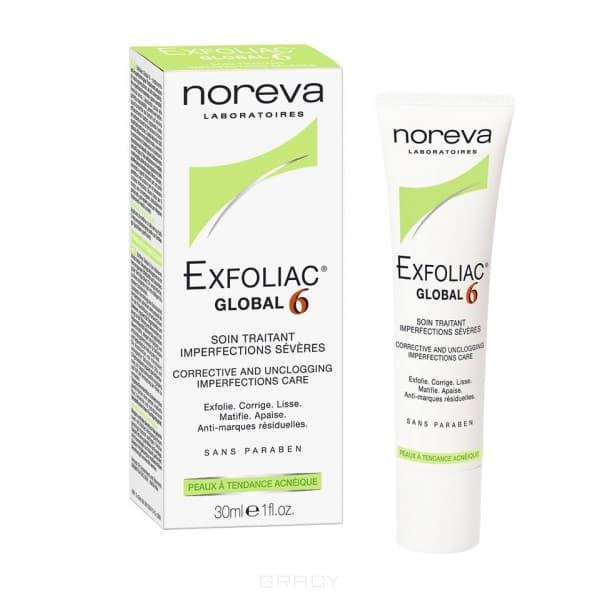 Noreva Крем для лица Глобал 6 Exfoliac, 30 мл, Крем для лица Глобал 6 Exfoliac, 30 мл, 30 мл