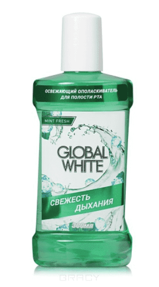Global White Ополаскиватель освежающий Олива и петрушка, 300 мл global white