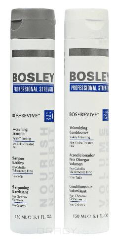 Bosley Pro Набор для волос Шампунь и кондиционер для истонченных неокрашенных волос, Набор для волос Шампунь и кондиционер для истонченных неокрашенных волос, 1/1 л недорого
