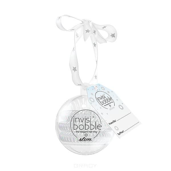 Invisibobble Резинка-браслет для волос SLIM Bauble, жемчужный, 3 шт/уп invisibobble original royal pearl резинка браслет для волос цвет жемчужный