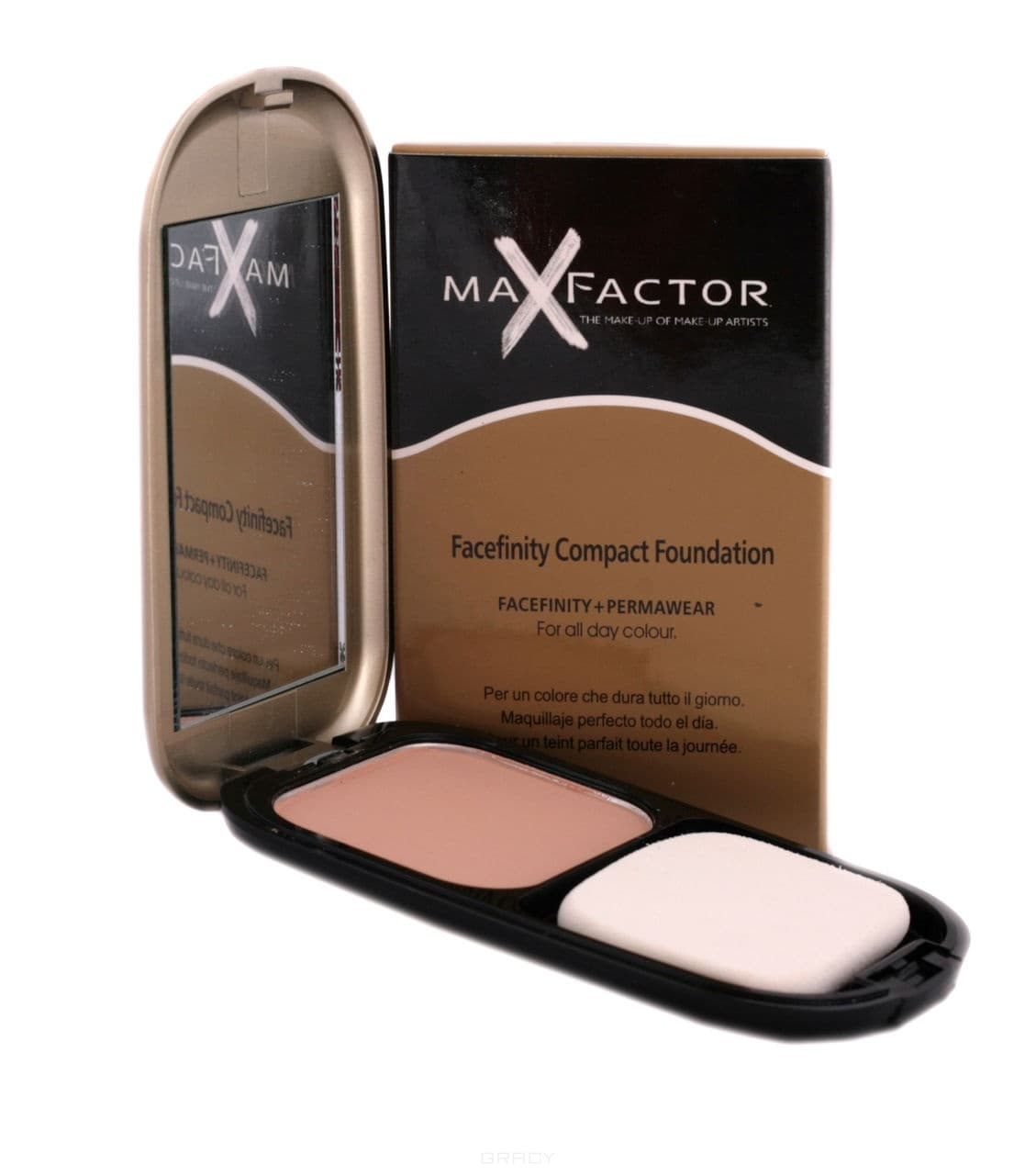 Max Factor Пудра Facefinity Compact Foundation, 10 гр. (5 оттенков), Пудра Facefinity Compact Foundation (5 оттенков), 10 гр., 10 гр. Цвет: 2 Слоновая кость