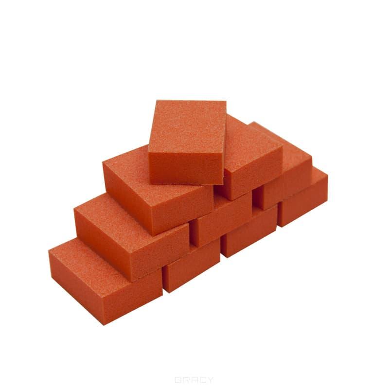 Planet Nails Мини баф для ногтей зауженный оранжевый 10шт/уп
