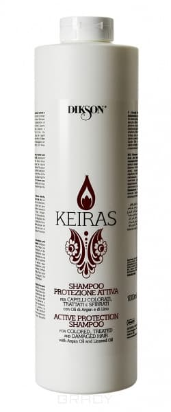 Dikson, Шампунь активная защита с маслом Арганы и экстрактом семени Льна Keiras Shampoo Protezione Attiva, 250 мл