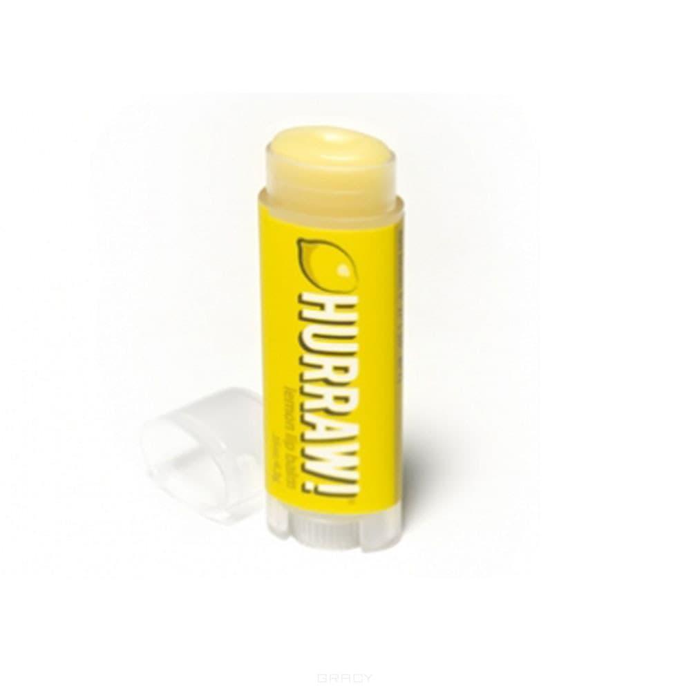 Hurraw Бальзам для губ Лимон Lemon Lip Balm, Бальзам для губ Лимон Lemon Lip Balm, 1 шт бальзам для губ hurraw coconut lip balm