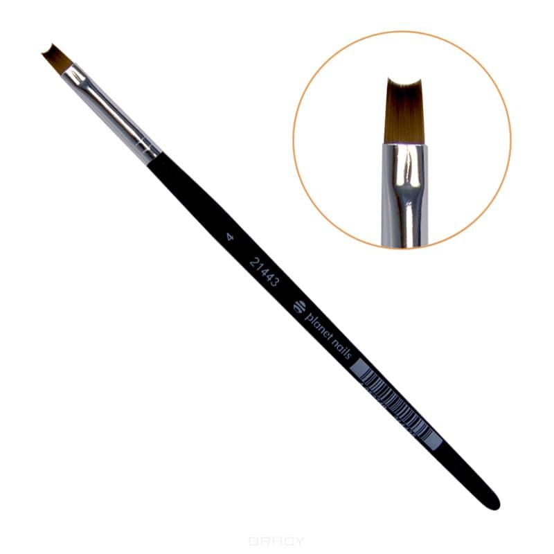 Planet Nails Кисть для дизайна полукруг №4 planet nails кисть для дизайна веерная 1 4