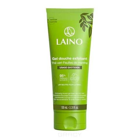 Купить Laino - Гель-эксфолиант для душа Зеленый чай с мятой