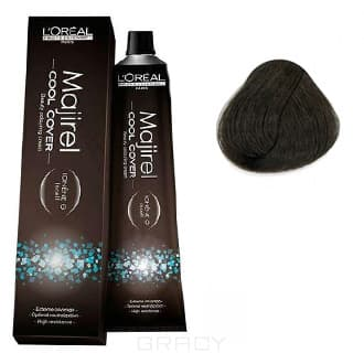 LOreal Professionnel, Краска для волос Majirel Cool Cover, 50 мл (33 оттенка) 5.1 светлый шатен пепельный