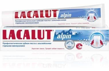 Lacalut Зубная паста Alpin, 50 мл, Зубная паста Alpin, 50 мл, 50 мл паста зуб lacalut хербал 75мл гель