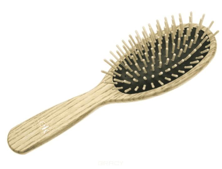 Tek Щетка массажная овальная большая 9 рядов деревянная, 152003 щетка 1 all systems pin brush small овальная малая зубцы 35мм для средней и длинной шерсти животных