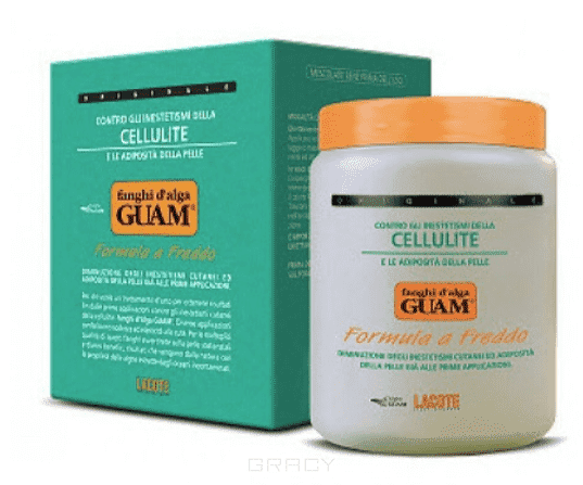 Guam Маска антицеллюлитная для увядающей кожи Fanghi D'Alga, 1 кг guam fanghi d alga pancia e girovita маска антицеллюлитная для живота и талии 1000 г