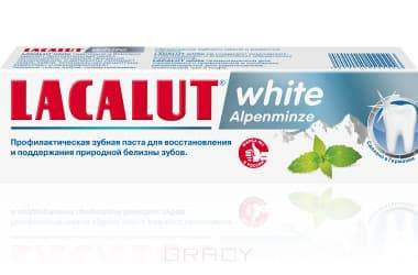 Lacalut Зубная паста Уайт Альпийская мята white Alpenminze, 75 мл