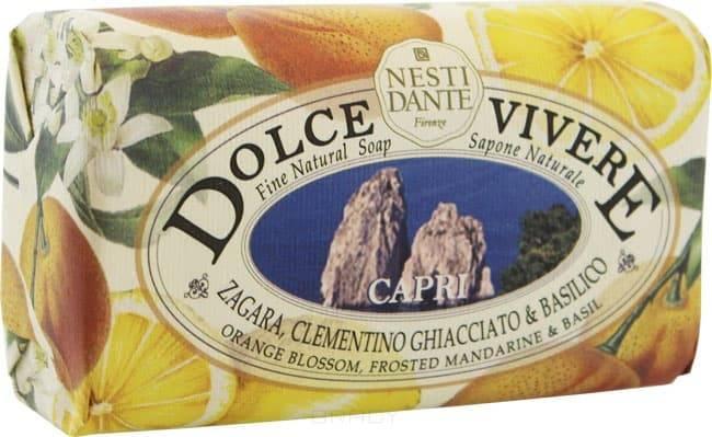 Nesti Dante Мыло Сладкая жизнь Капри, 250 гр. nesti dante мыло дрок dei colli fiorentini 250 гр мыло дрок dei colli fiorentini 250 гр 250 гр