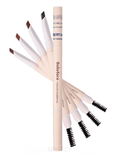 It's Skin Карандаш для бровей Бейбифейс Babyface Natural Eyebrow, 0,3 г (4 тона), 0,3 г, 03 Yellow Brown (светло-коричневый) valeri d кисть из нейлона овальная 3 мм 6м 322к0 1