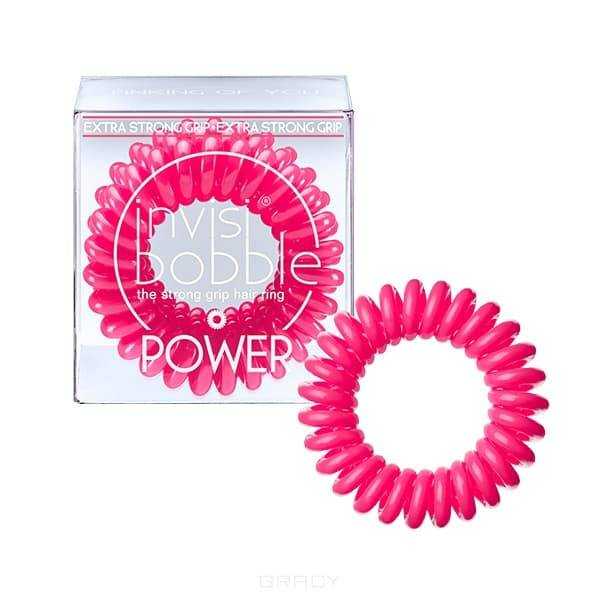 Invisibobble Резинка для волос розовая Power Pinking of you (3 шт.), Резинка для волос розовая Power Pinking of you (3 шт.), 3 шт power резинка браслет для волос черная