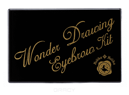 Holika Holika, Набор теней для бровей Wonder Drawing Eyebrow Kit, 15 мл (2 тона), 15 мл, тон 01 темно-коричневый