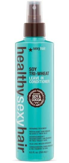Sexy Hair Кондиционер несмываемый соевый Soy Tri - Wheat Leave-In Conditioner, Кондиционер несмываемый соевый Soy Tri - Wheat Leave-In Conditioner, 250 мл  недорого