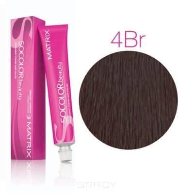 Matrix, Крем-краска для волос SoColor.Beauty, 90 мл (117 оттенков) SOCOLOR.beauty 4BR Шатен коричнево-красный
