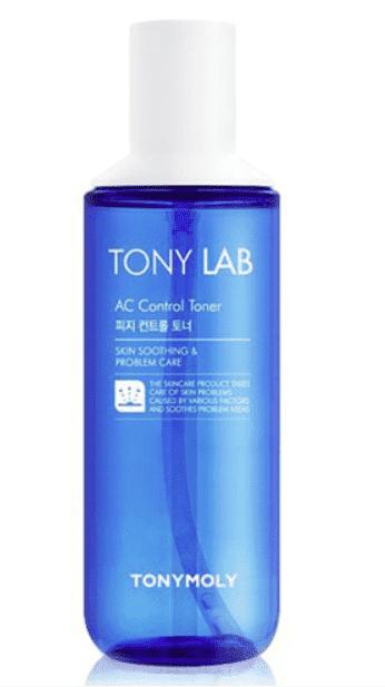 Tony Moly Тоник для ухода за кожей склонной к жирности и появлению акне Tony Lab AC Control Toner, 180 мл акне tony moly мист tony lab ac control treatment mist объем 100 мл