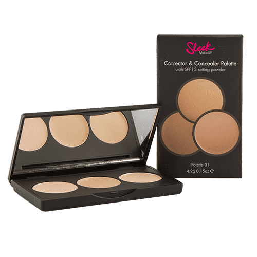 Sleek MakeUp Корректор и консиллер Corrector and Concealer (2 тона), 1 шт, Тон 01 nyx professional makeup консилер для лица concealer jar deep golden 075