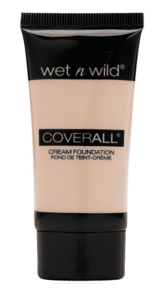 Wet n Wild Тональный крем для лица Coverall Cream Foundation, (4 тона), 1 шт, E816 fair light тональный крем the saem porcelain skin bb cream spf30 ра 02