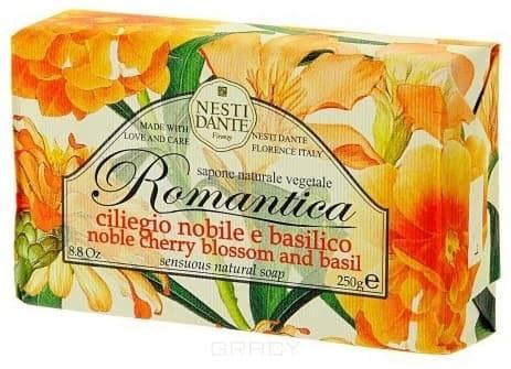 Nesti Dante Мыло Романтика вишневый цвет и базилик Romantica, 250 гр.