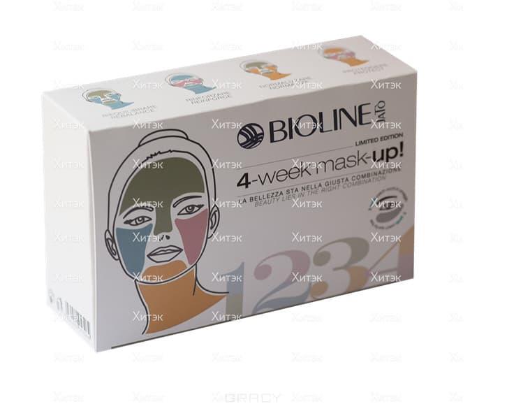 Bioline 4-ех недельный набор масок Musk-Up, 4х20 мл + 2,5 мл bioline jato крем для ухода за контуром глаз и губ с гиалуроновой кислотой bioline jato lifting code eye