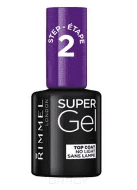 Rimmel Top coat Super Gel верхнее покрытие-гель для ногтей, 12 мл isa dora верхнее покрытие для гелевого лака для ногтей lacquer top coat тон 210 6 мл