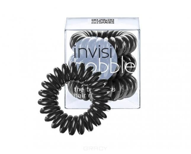 Invisibobble, Резинка для волос черная True Black (3 шт.)