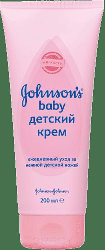 Johnson's Baby Детский крем, 200 мл johnson s baby влажные салфетки для самых маленьких без отдушки johnson s baby 64 шт