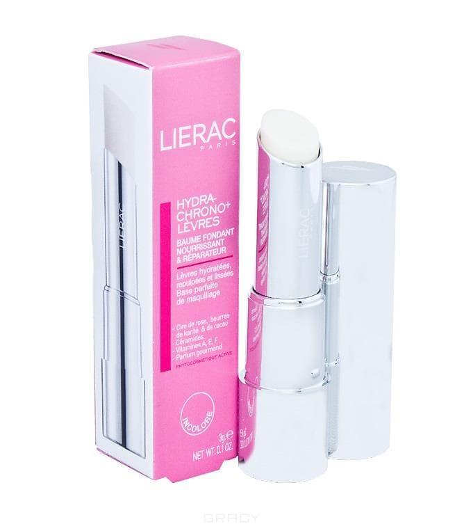 Lierac, Помада гигиеническая Гидра-Хроно + Бальзам для губ, 3 г, 3 г, розовый с блеском