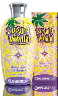 Supertan, Активатор загара, три проявителя + конопляное масло Sugary Vanilla, 200 мл