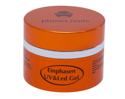 Planet Nails Гель Einphasen UV/LED Gel однофазный, Гель Einphasen UV/LED Gel однофазный, 30 г runail однофазный uv гель белый 15 г