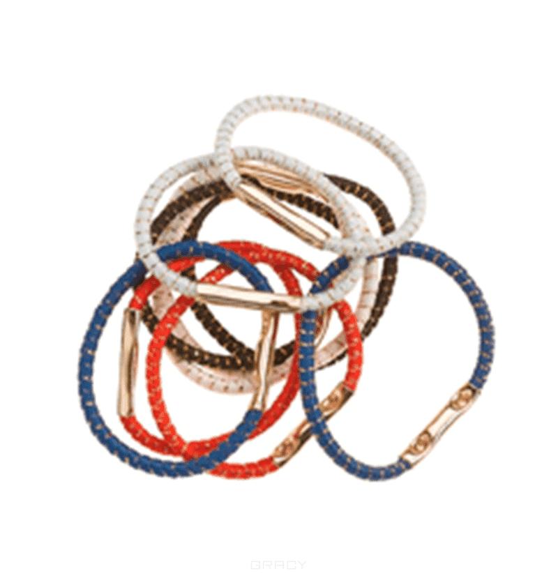 Sibel Резинки для волос (диаметр 25 мм) цветные, 10 шт/уп
